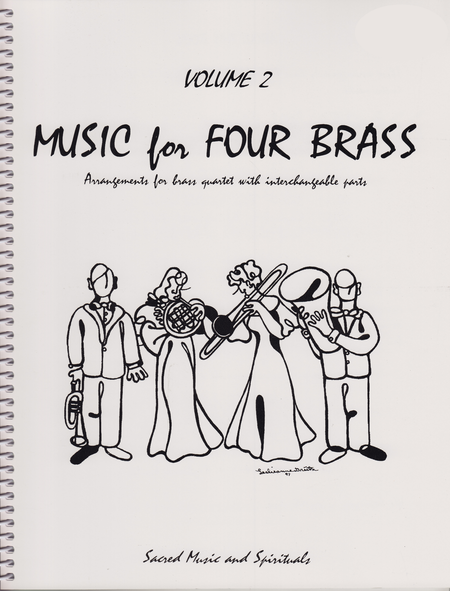 Music for Four Brass, Volume 2 - Set of 4 Parts for Brass Quartet (2 Trumpets, Trombone, Bass Trombone or Tuba)
