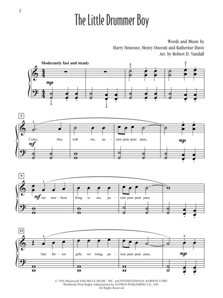 The Little Drummer Boy Solo Sheets (Value Pack)