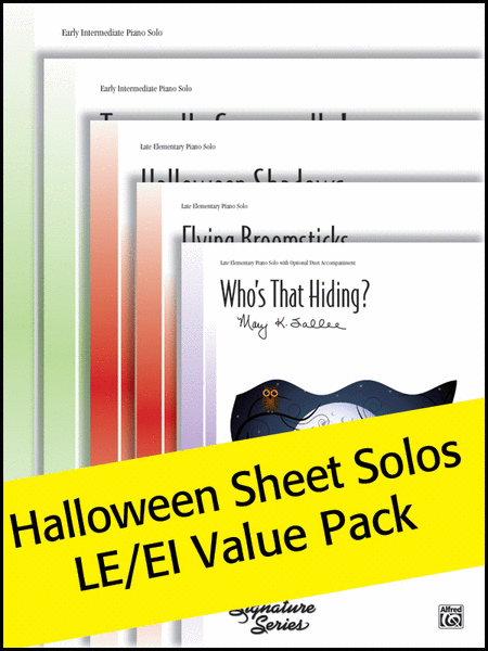 Halloween Sheet Solos LE/EI (Value Pack)