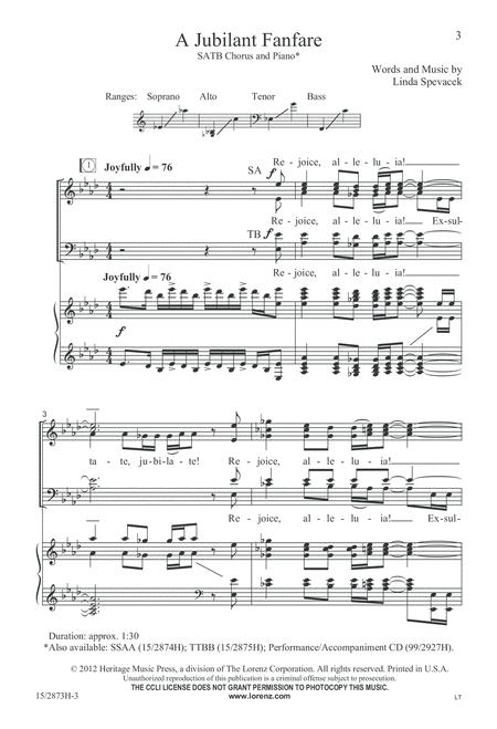 A Jubilant Fanfare