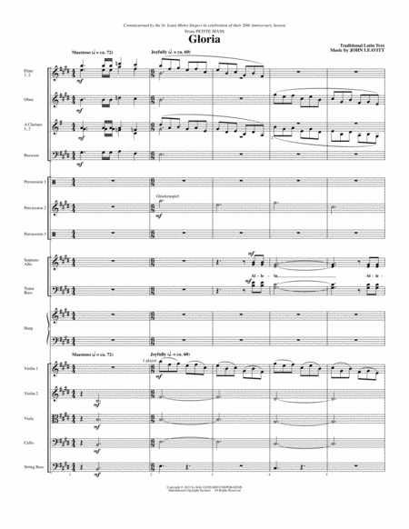 Gloria (from Petite Mass) - Full Score