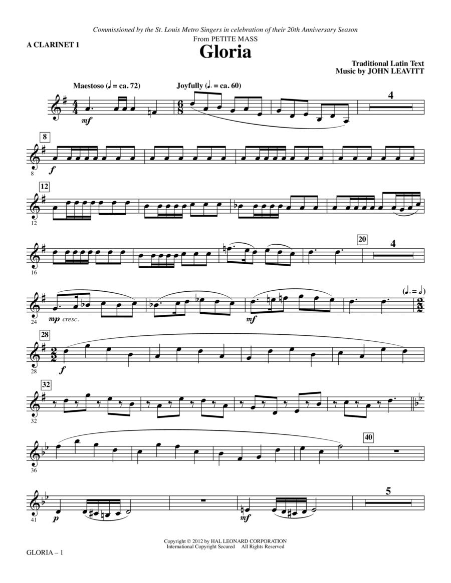 Gloria (from Petite Mass) - A Clarinet 1