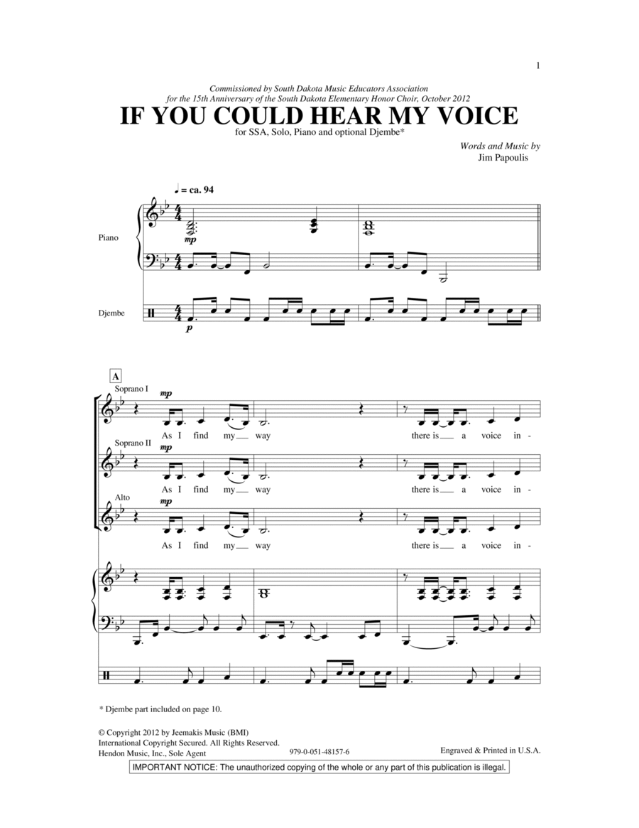 If You Could Hear My Voice