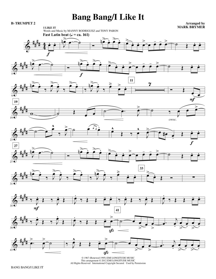 Bang Bang/I Like It - Bb Trumpet 2