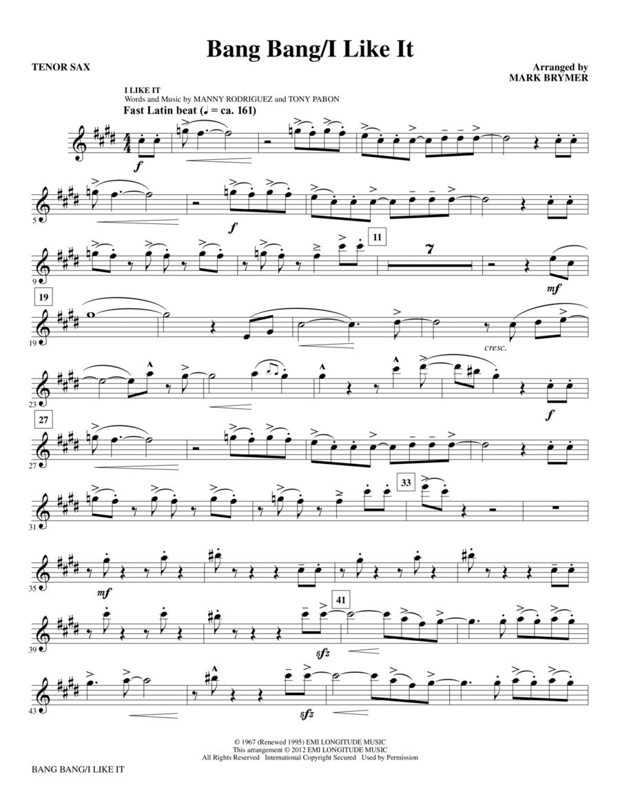 Bang Bang/I Like It - Tenor Sax