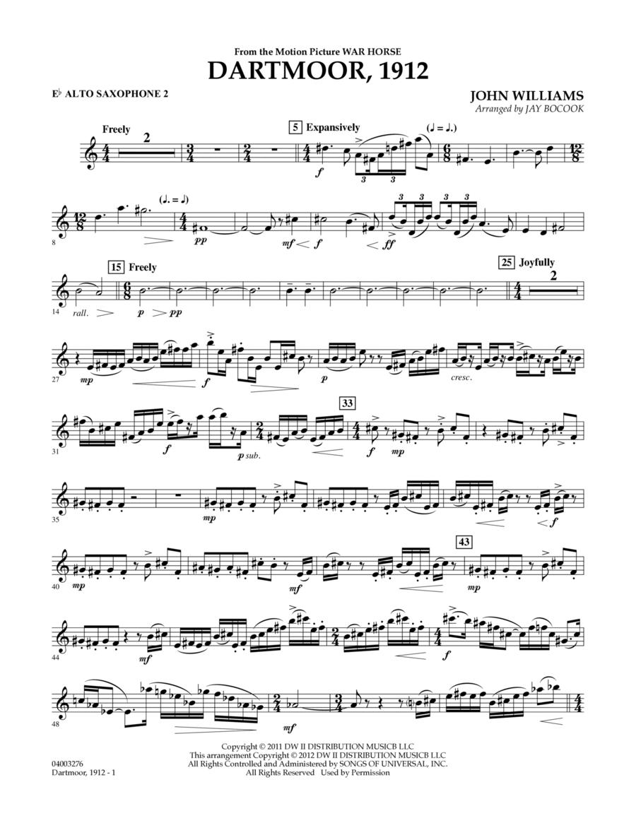 Dartmoor, 1912 (from War Horse) - Eb Alto Saxophone 2