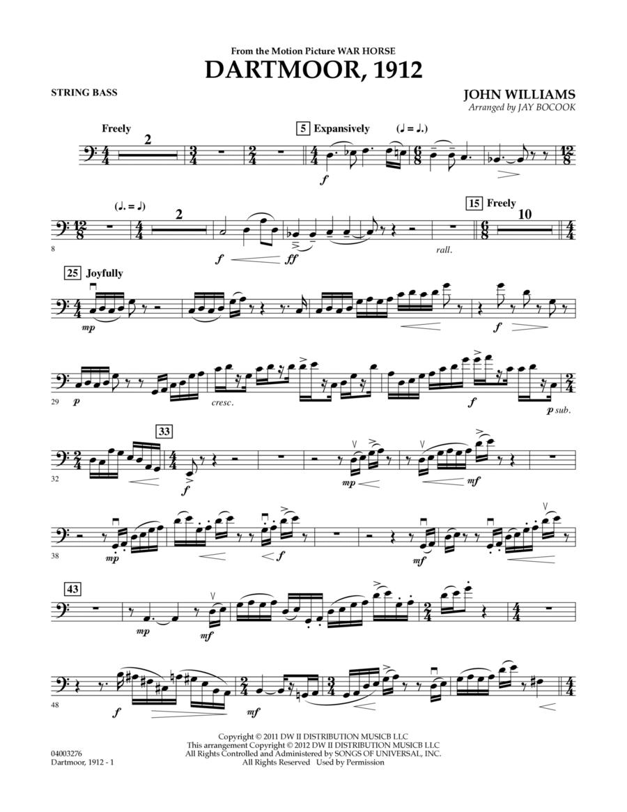 Dartmoor, 1912 (from War Horse) - String Bass