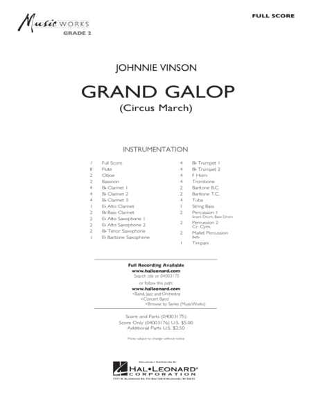 Grand Galop (Circus March) - Full Score