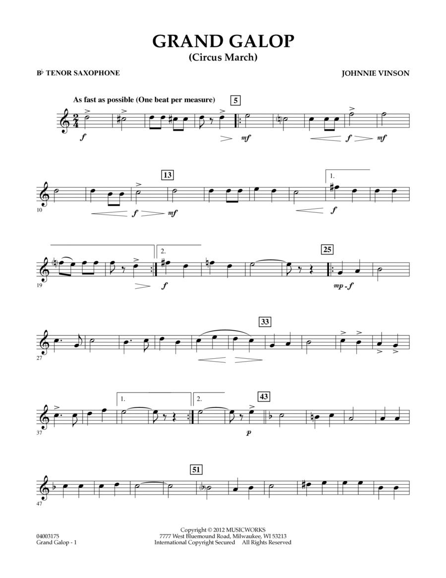 Grand Galop (Circus March) - Bb Tenor Saxophone