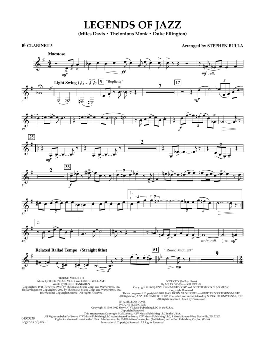 Legends Of Jazz - Bb Clarinet 3
