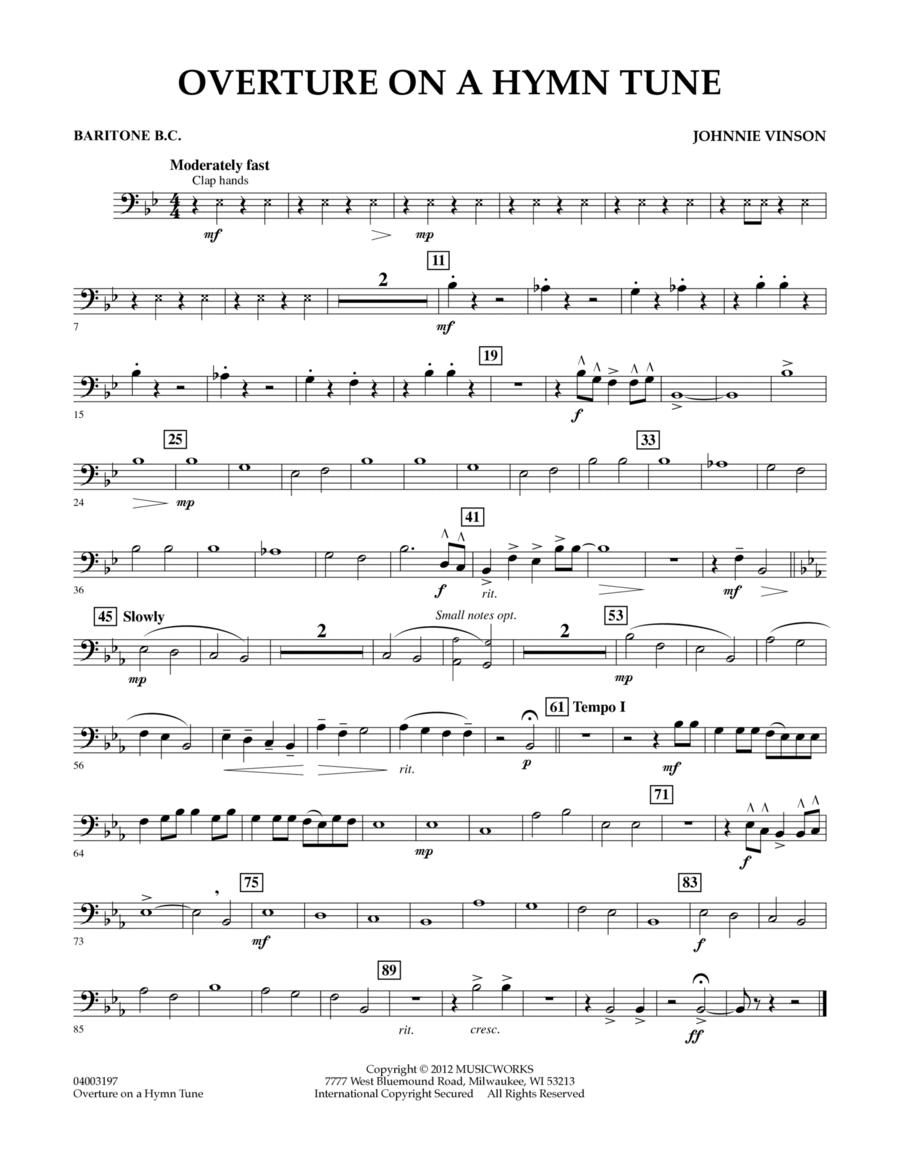 Overture on a Hymn Tune - Baritone B.C.