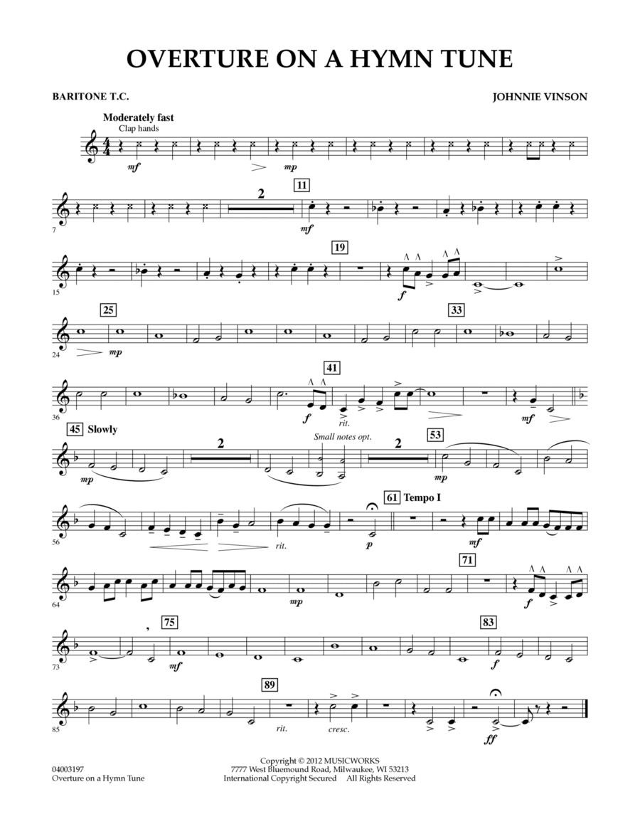 Overture on a Hymn Tune - Baritone T.C.
