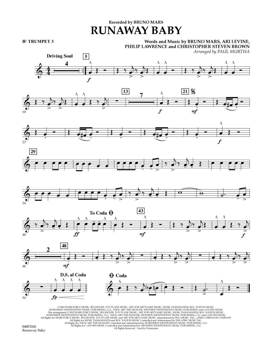 Runaway Baby - Bb Trumpet 3