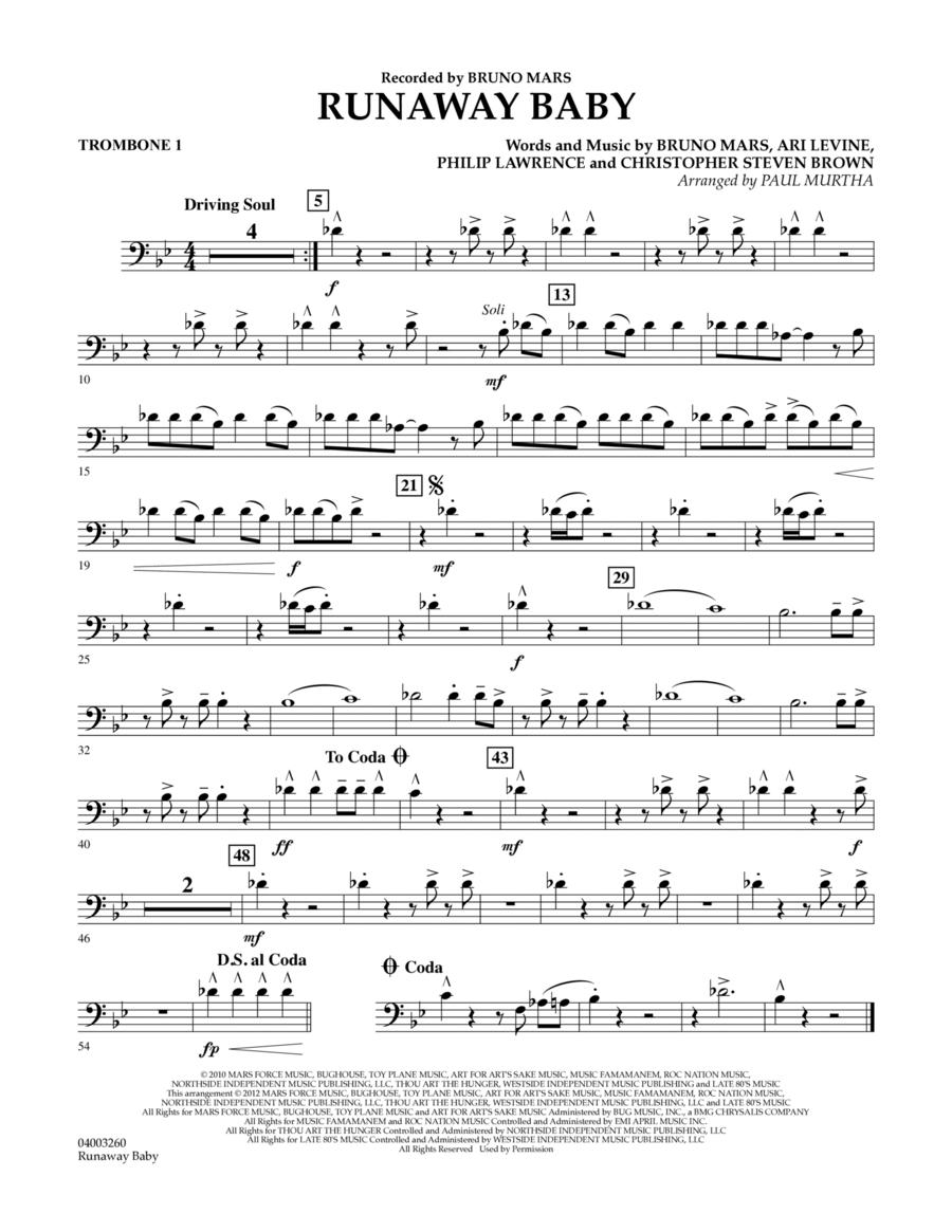 Runaway Baby - Trombone 1