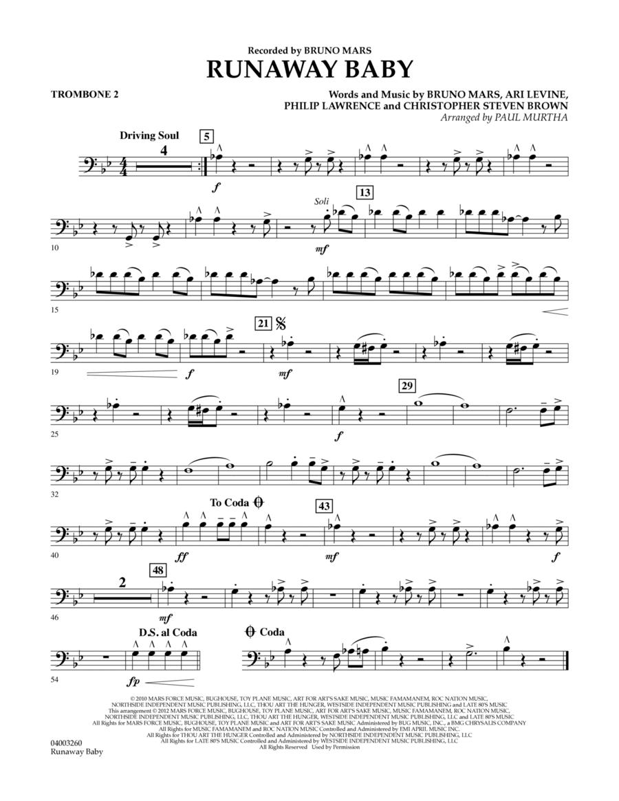 Runaway Baby - Trombone 2