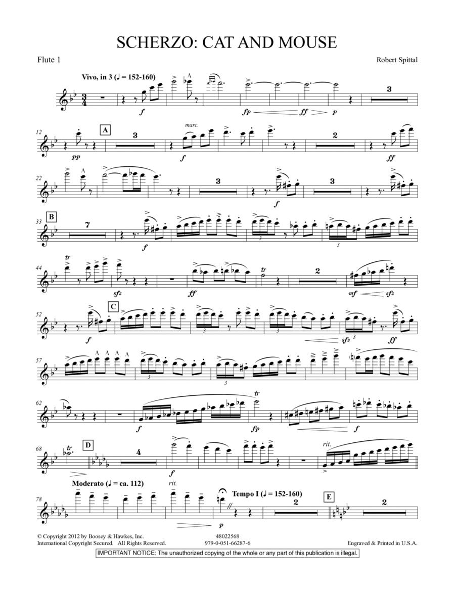 Scherzo: Cat And Mouse - Flute 1