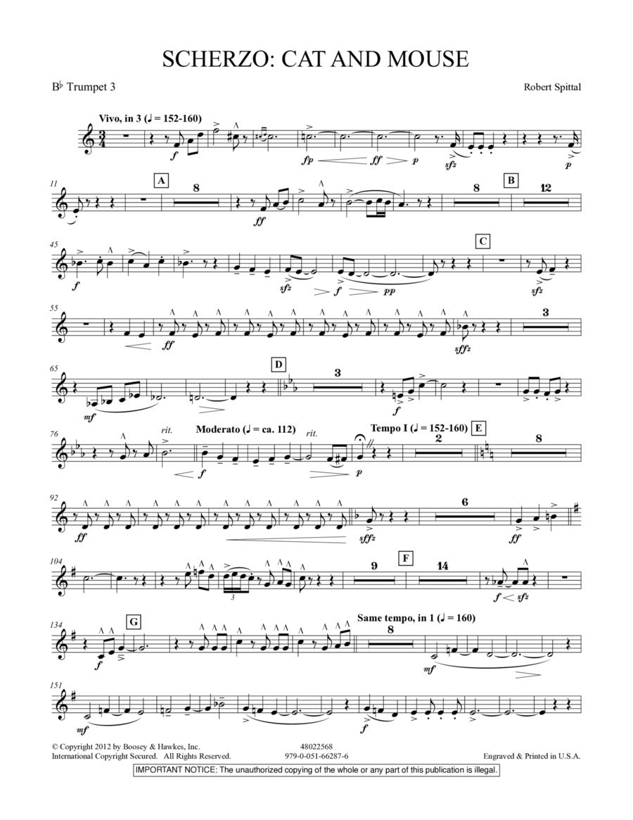 Scherzo: Cat And Mouse - Bb Trumpet 3