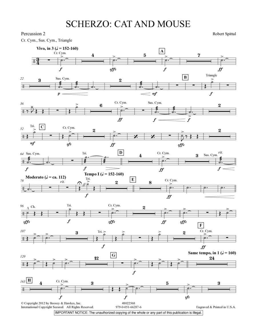 Scherzo: Cat And Mouse - Percussion 2