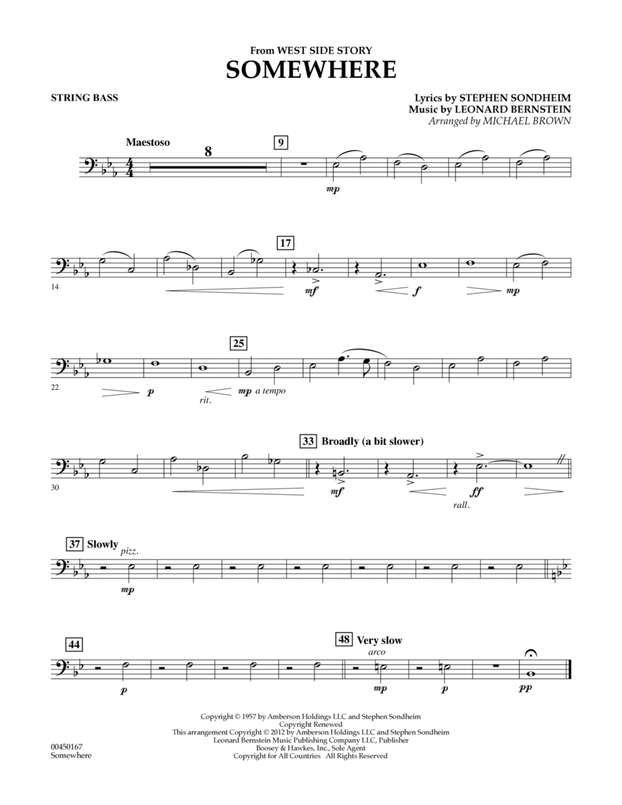 Somewhere (from West Side Story) - Bass