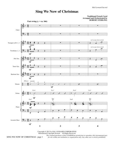 Sing We Now Of Christmas - Full Score