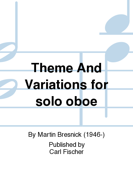 Theme And Variations for solo oboe