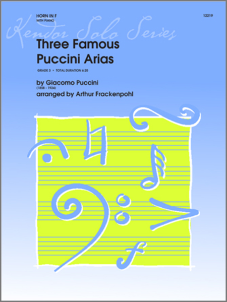 Three Famous Puccini Arias