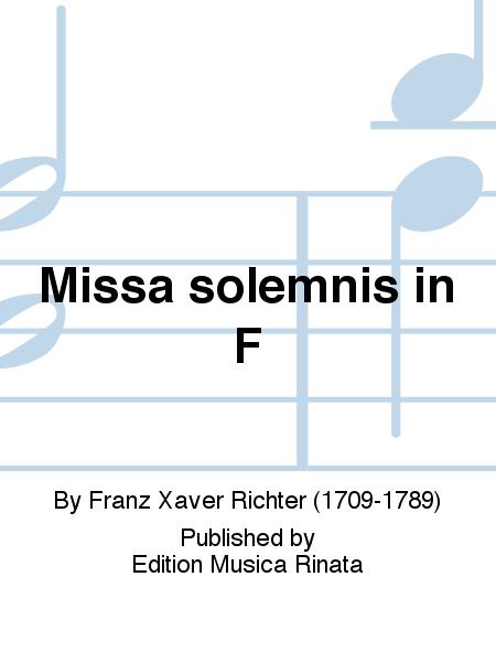 Missa solemnis in F