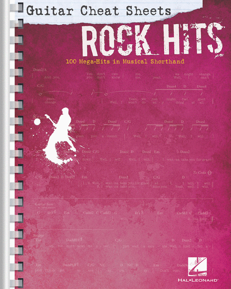 Guitar Cheat Sheets: Rock Hits