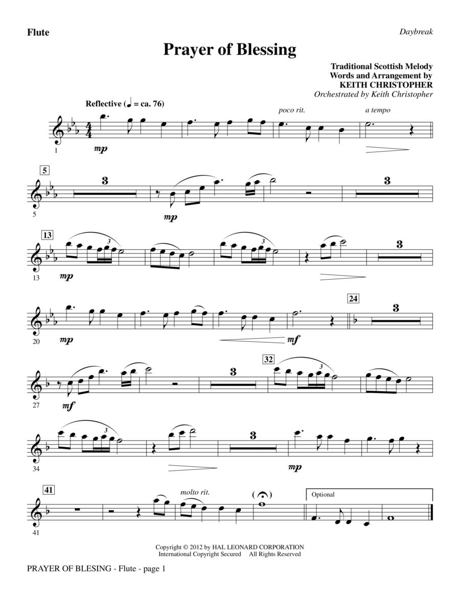 Prayer Of Blessing - Flute