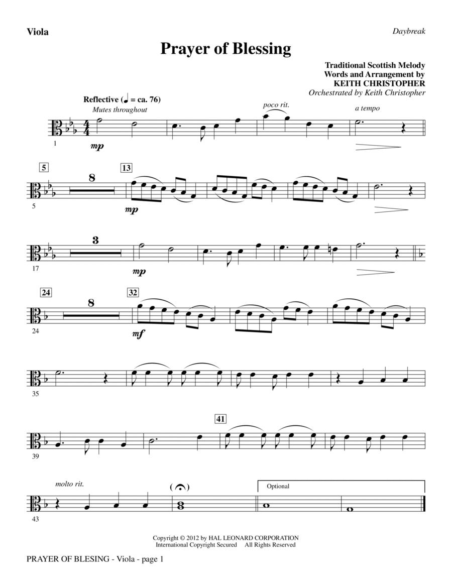 Prayer Of Blessing - Viola