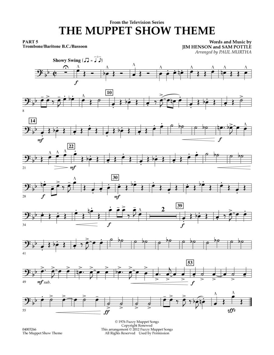The Muppet Show Theme - Pt.5 - Trombone/Bar. B.C./Bsn.
