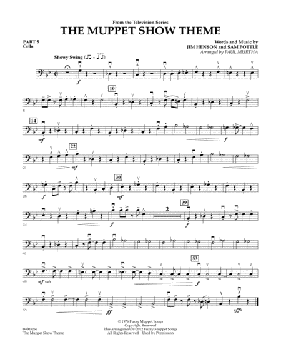 The Muppet Show Theme - Pt.5 - Cello