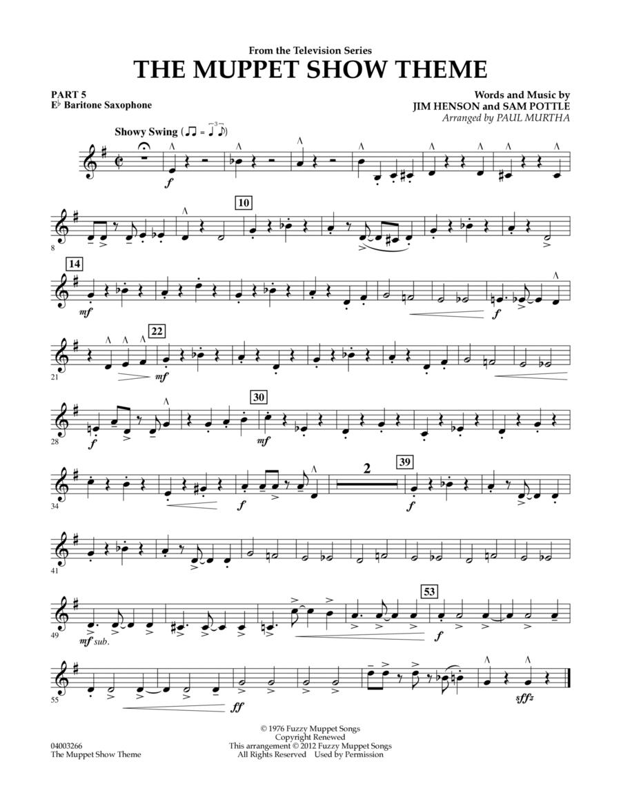 The Muppet Show Theme - Pt.5 - Eb Baritone Saxophone