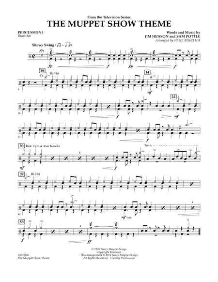 The Muppet Show Theme - Percussion 1