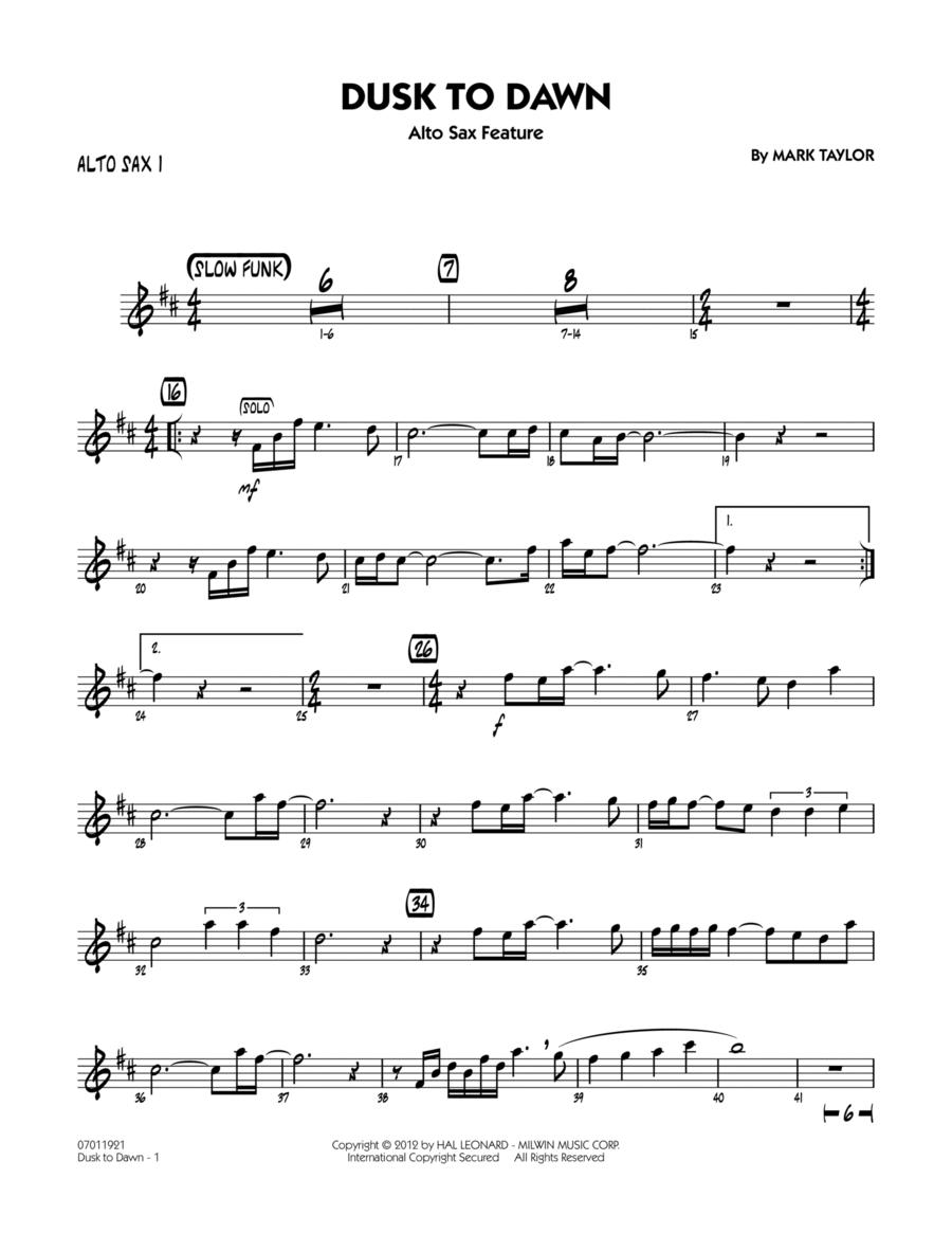 Dusk To Dawn (Solo Alto Sax Feature) - Alto Sax 1