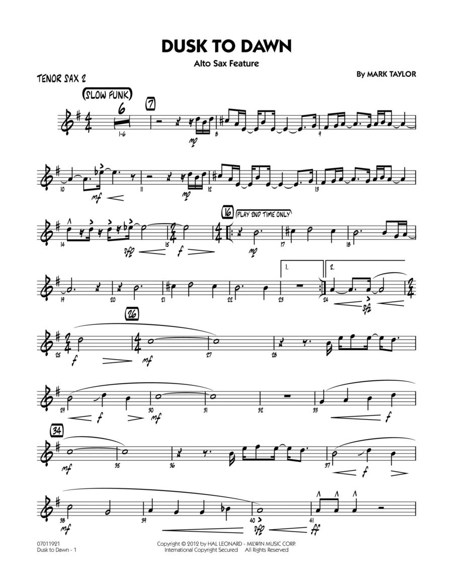 Dusk To Dawn (Solo Alto Sax Feature) - Tenor Sax 2