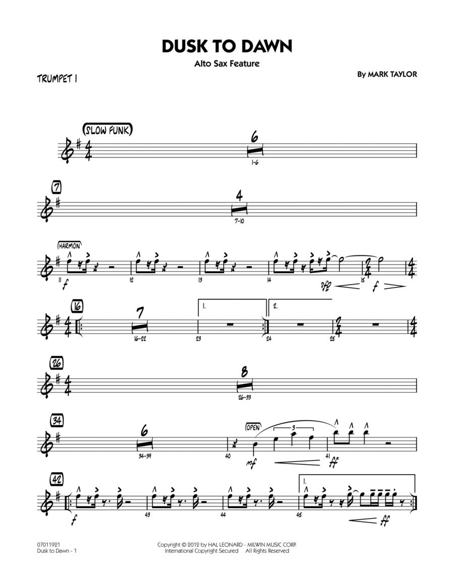 Dusk To Dawn (Solo Alto Sax Feature) - Trumpet 1