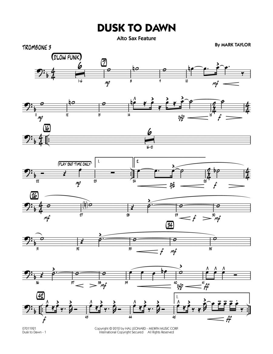 Dusk To Dawn (Solo Alto Sax Feature) - Trombone 3