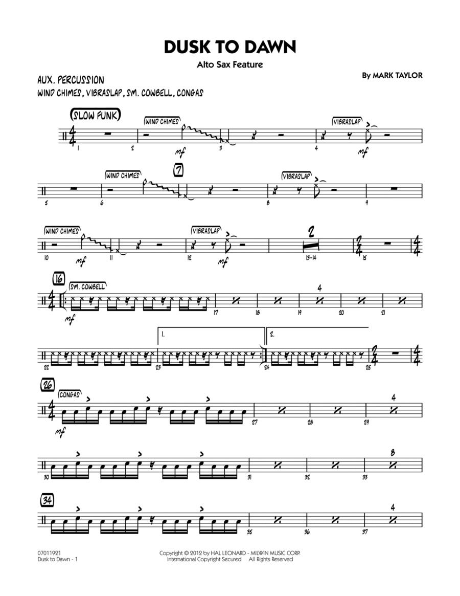Dusk To Dawn (Solo Alto Sax Feature) - Aux Percussion