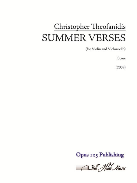 Summer Verses (score and parts)