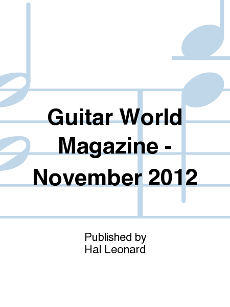 Guitar World Magazine - November 2012