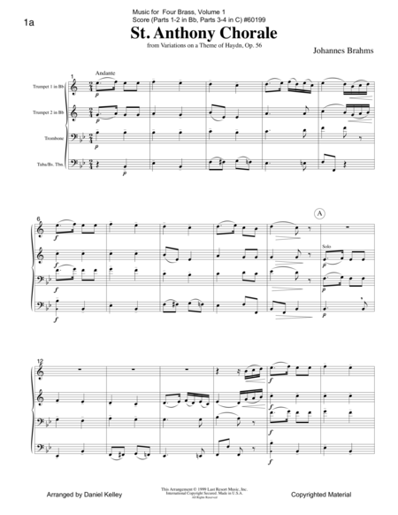 Music for Four Brass, Volume 1, Score