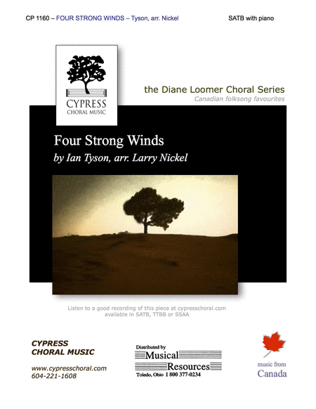 Four Strong Winds (SATB)
