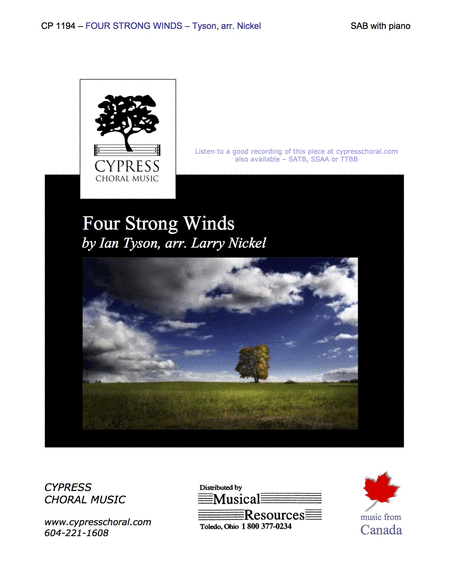 Four Strong Winds (SAB)