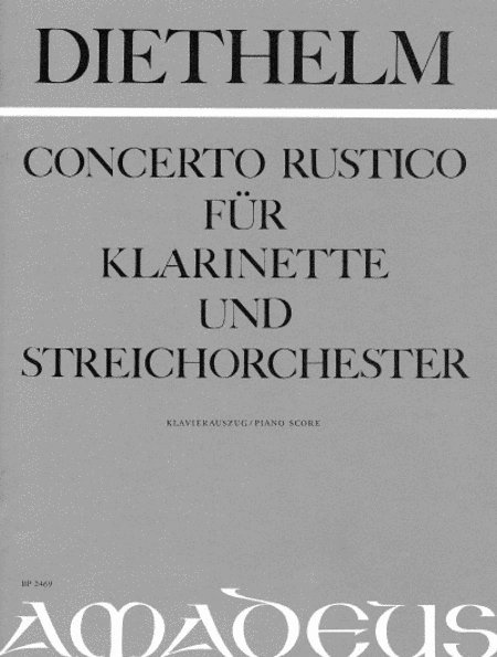 Concerto Rustico for clarinet and string orchestra op. 73