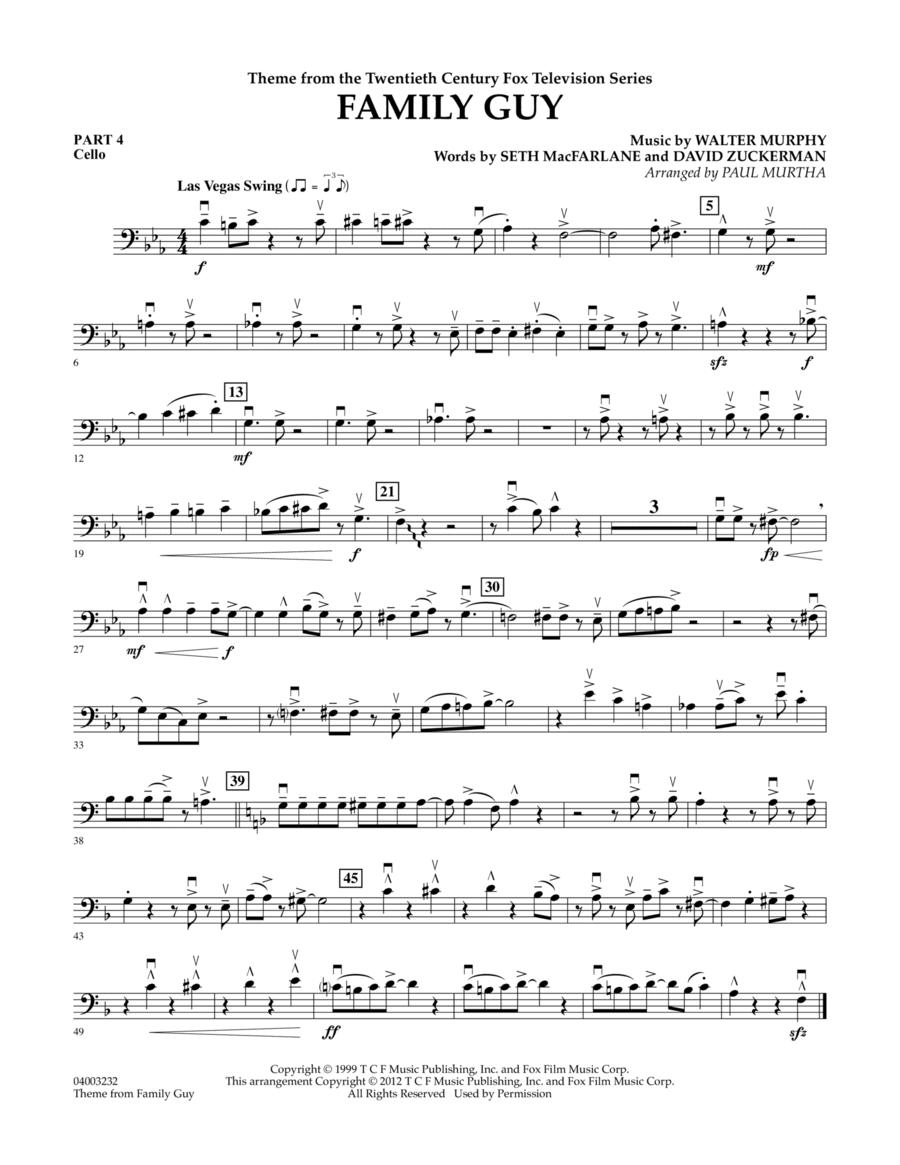 Family Guy (Theme) - Pt.4 - Cello
