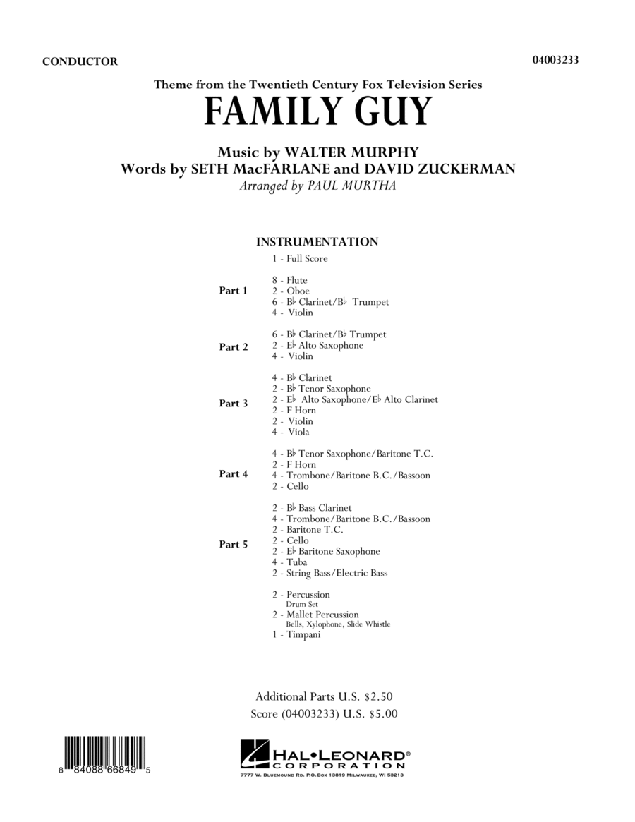 Family Guy (Theme) - Full Score