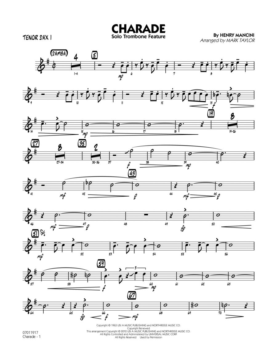 Charade (Solo Trombone Feature) - Tenor Sax 1