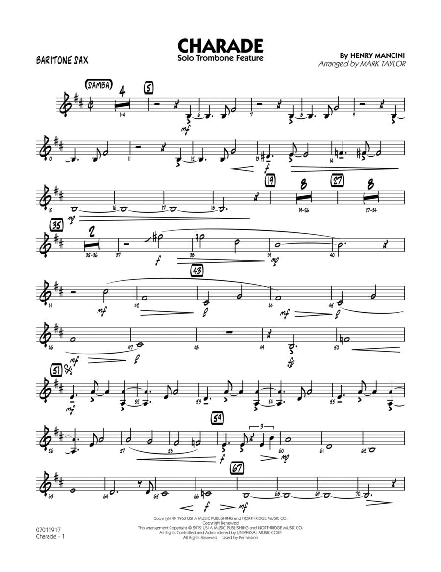 Charade (Solo Trombone Feature) - Baritone Sax