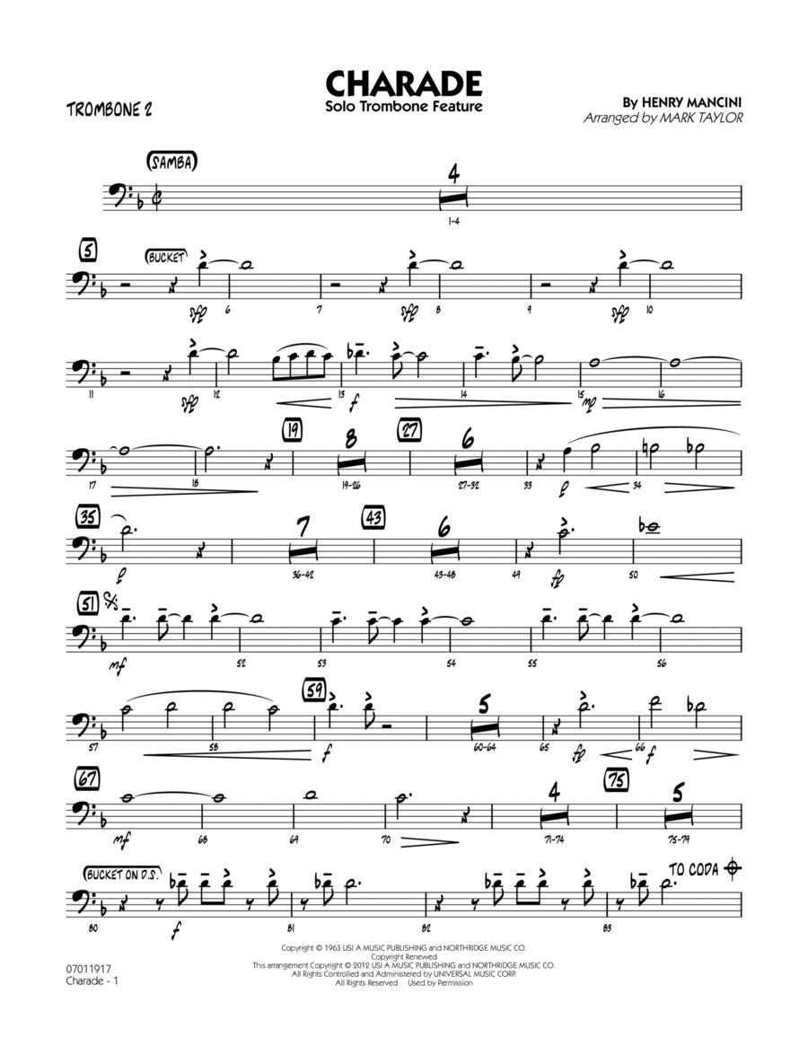 Charade (Solo Trombone Feature) - Trombone 2